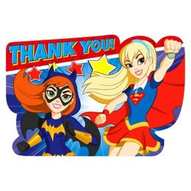 DC Super Hero Girls™ Postcard Thank You Cards 8 COUNT