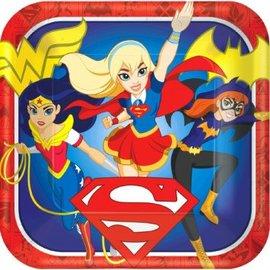 "DC Super Hero Girls™ Square Plates, 9""-8ct"