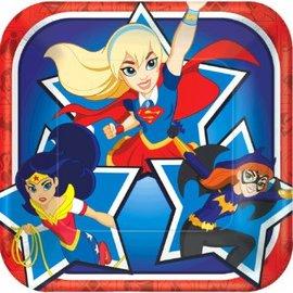 "DC Super Hero Girls™ Square Plates, 7"", 8ct"