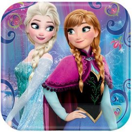 "©Disney Frozen Magic Square Plates, 7"" 8ct."