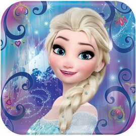 "©Disney Frozen Magic Square Plates, 9""-8ct"