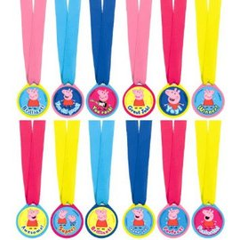 Peppa Pig™ Award Medals 12ct. - Clearance