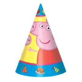 Peppa Pig™ Paper Cone Hats 8ct  - Clearance