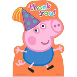 Peppa Pig™ Postcard Thank You Cards 8ct. - Clearance