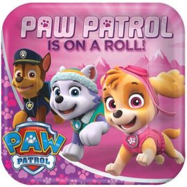 "Paw Patrol™ Girl Square Plates, 9"" 8ct. - Clearance"