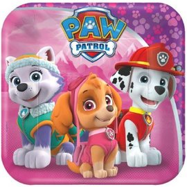 "Paw Patrol™ Girl Square Plates, 7"" 8ct. - Clearance"