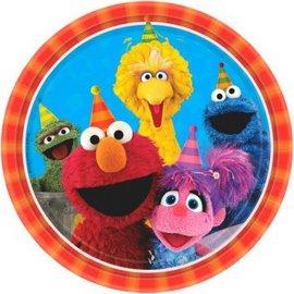 "Sesame Street® Round Plates, 9"" -8ct"
