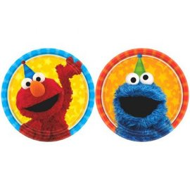 "Sesame Street® Assorted Round Plates, 7""-8ct"