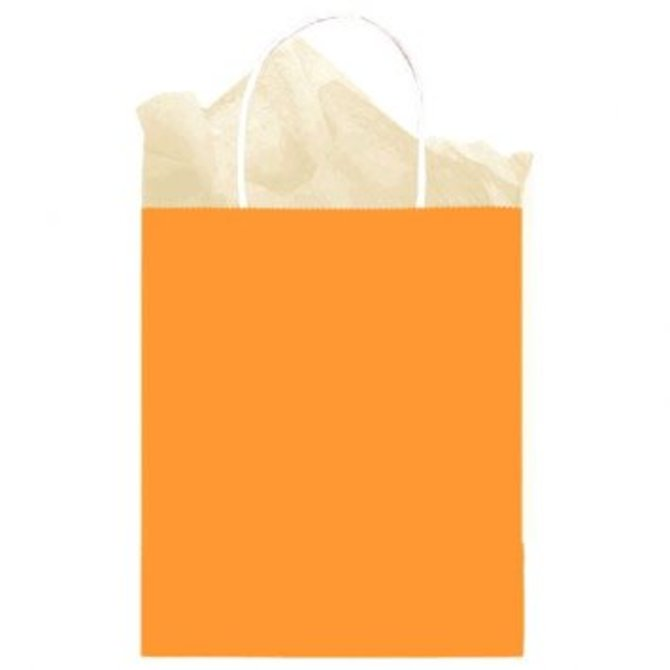 Bag Solid Medium Kraft Orange