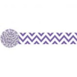Chevron Crepe ‑ New Purple, 81'