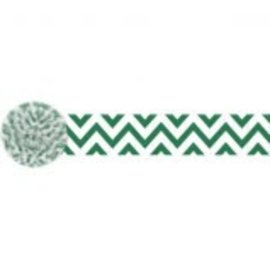 Chevron Crepe ‑ Festive Green, 81'