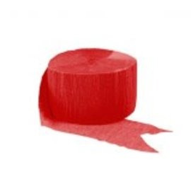Solid Rolls Crepe Streamer - Apple Red, 81'