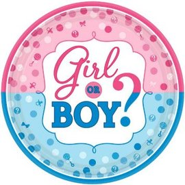 "Girl or Boy? Round Plates, 10 1/2"", 8ct"