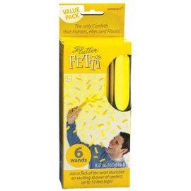 Yellow Flutter Fetti 6 ct.