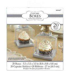 Cupcake Boxes - Silver 20ct.