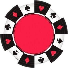 """Casino Round 7"""" Plate 8ct."""