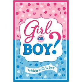 Girl or Boy? Invitations,  8ct