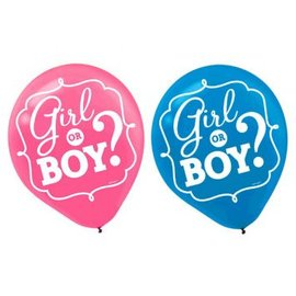Girl or Boy? Gender Reveal Balloons 15ct