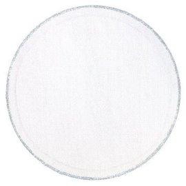 "Tulle 9"" Circles - White w/Silver Trim  25ct"