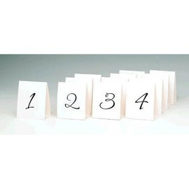 Table Number Tent Place Cards, 1 - 12