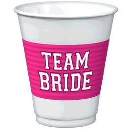 Team Bride 16oz Plastic Cups, 16oz 25ct