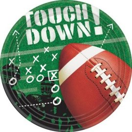 """Football Frenzy 9"""" Lunch Plates 50ct"""
