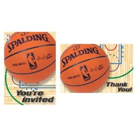 Invitations & Thank You NBA Spalding, 8 ct