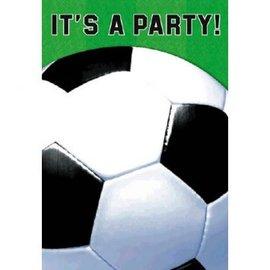 Soccer Fan Folded Invite 8 Count