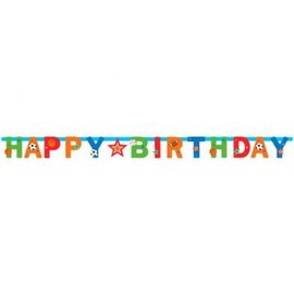 Sports Party Illustrated Letter Banner