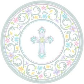 "Blessed Day Round Plates, 10 1/2""  18 count"