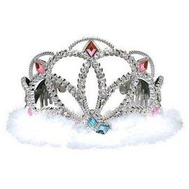 Tiara Diamond Electroplated Plastic w/Marabou