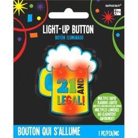 21st Brilliant Birthday Novelty Button