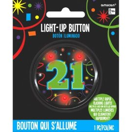 21st Brilliant Birthday Flashing Button