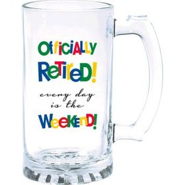 Officially Retired Tankard-15oz Glass