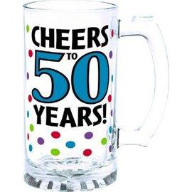 50th Birthday Tankard Glass