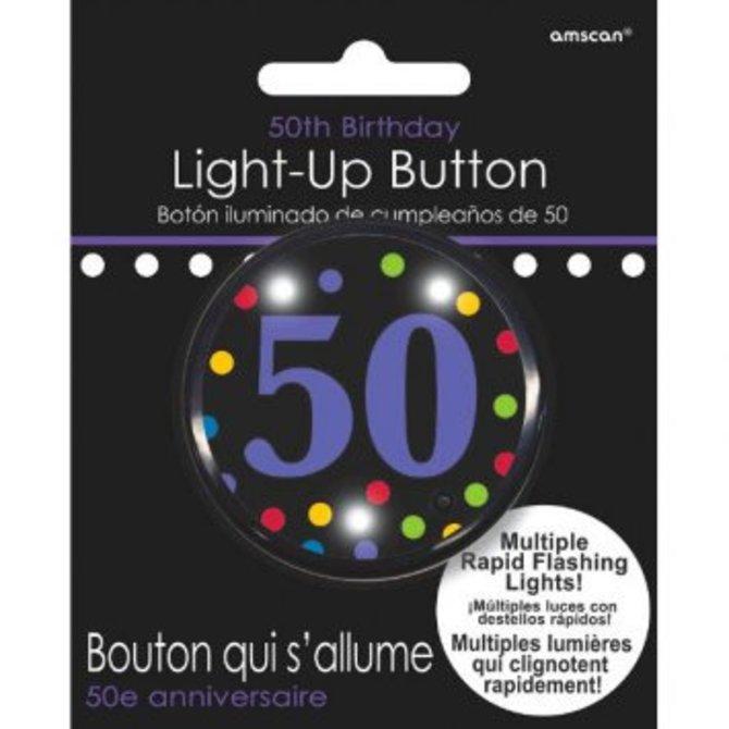 50th Birthday Flashing Button
