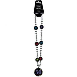 50th Birthday Party Bead Necklace