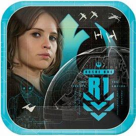"Star Wars™ Rogue 1 Square Plates, 7""- 8ct"