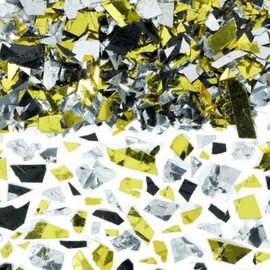 Party Sparkle Silver, Gold and Black Confetti