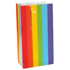 Large Packaged Paper Bags - Rainbow