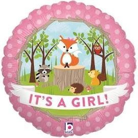 "Woodland Baby Girl Balloon, 18"" (#116)"