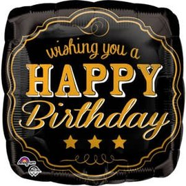 "Vintage Happy Birthday Balloon, 18"""