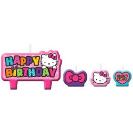 Hello Kitty Rainbow Birthday Candle Set - Clearance