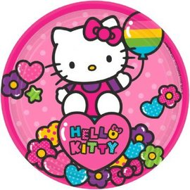 "Hello Kitty Rainbow 9"" Round Plates 8ct. - Clearance"