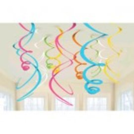 Multi Plastic Swirl Decorations, 12ct