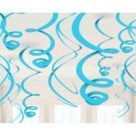 Caribbean Plastic Swirl Decorations, 12ct
