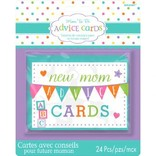 Baby Shower New Mommy Advice Cards 24ct
