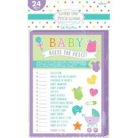 Baby Shower Guess the Price Game 24ct