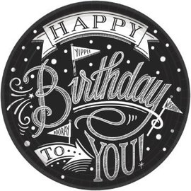 "Hooray, It's Your Birthday Round Plates, 10 1/2"" 18 count"