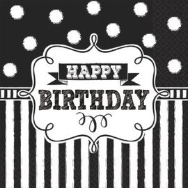 Chalkboard Birthday Luncheon Napkins, 16ct